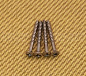 SCR-IN-C Chrome Short Neck Screws #8 x 1-1/2""