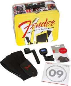 099-2017-001 Fender Lunchbox Packed w/Necessities Strings Tuners & Picks 0992017001