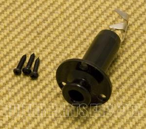 005-B Black Acoustic/Electric Output Endpin Jack