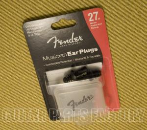 099-0542-000 Fender Musician Series Ear Plugs Black 27dB noise reduction 0990542000