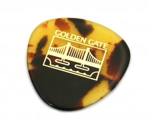 (1) Golden Gate MP-12 Tortoise Thick Mandolin Bass 0r Jazz Guitar Pick Made in Japan