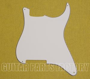 PG-0992-035 Outline Black White Stratocaster Guitar Pickguard