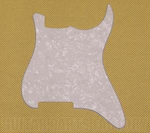PG-0992-055 Outline Blank White Pearloid Stratocaster Guitar Pickguard