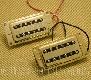 006-9714-000 Gretsch Elliot Easton G5570 Gold Humbucking Pickups Set With Mounting Rings 0069714000