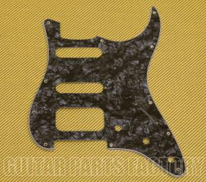 006-4009-000 Pickguard, Stratocaster® H/S/S (3-Screw Mount HB), Black Pearl, 11-Hole Mount, 4-Ply 0064009000