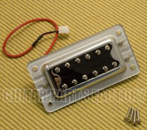 009-6644-000 Gretsch Pickup, Blacktop Filter'Tron, Neck, w/ Hardware, Chrome 0096644000
