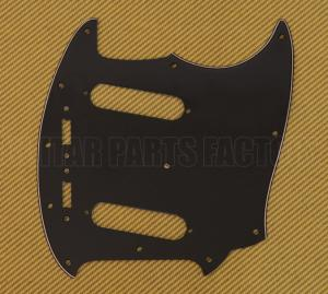 PG-0581-033 Black 3-ply Guitar Pickguard for Vintage USA Fender Mustang