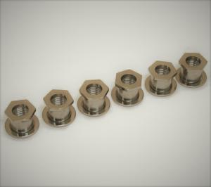 TK-0787-001 Sperzel Screw-In Guitar Bushings Polished Nickel