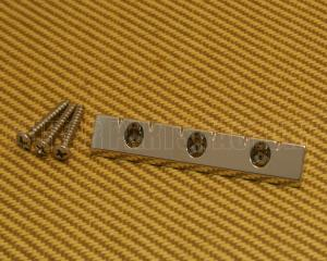 GB-LAP-N Gretsch Nickel Lap Steel Universal Low Profile Flat Mount Guitar Bridge