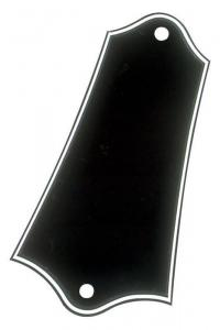 WD-BP-603B Black 3-Ply Truss Rod Cover For Gibson Guitar w/ Screws