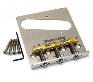 44100-43 Hipshot 3-Saddle Stainless Bridge For Vintage Tele