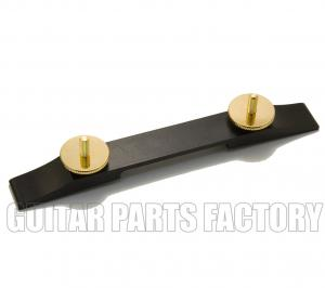 008-0625-000 Genuine Gretsch Bridge Base Ebony w/ Gold Hardware 74mm w/20mm 0080625000