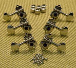WJ28N 3+3 Tuning Pegs Tuners Machine Heads Nickel Butterbean Guitar Wilkinson