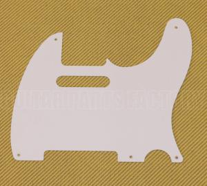 005-1514-049 Genuine Fender Pure Vintage Five-Hole Telecaster Pickguard White 0051514049