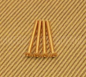GS-0005-002 (4) Gold Neck Plate Screws #8 x 1-3/4""