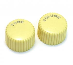 PK-3260-028 Harmony Cream Cupcake Knob Set Guitar Bass Tone Volume