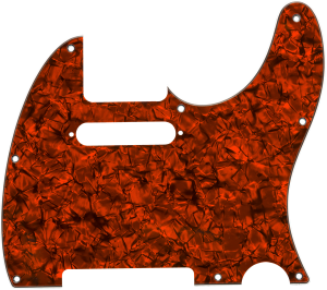 099-2196-004 Genuine Fender S/S/S Orange Moto 4-Ply Tele 8HL Pickguard 0992196004