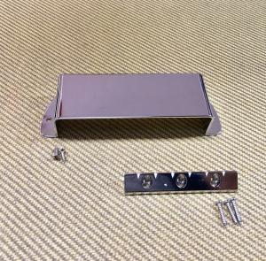 006-9710-000 Gretsch Chrome Electro Lap Steel Pickup Cover Plate & Bridge 0069710000