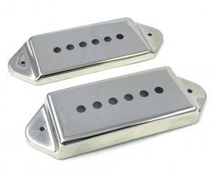 PC-0739-001 Nickel Metal Cover Set for P-90 P90 Style Dogear Guitar Pickups