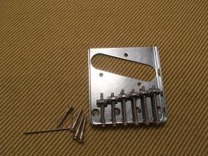 TB-0033-010 Chrome Vintage Style 6-Saddle Bridge for Tele Telecaster