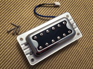 009-6642-000 Gretsch Pickup, Blacktop Filter'Tron, Bridge, w/ Hardware, Chrome 0096642000