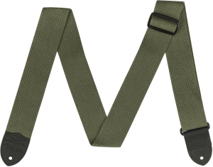 "099-0640-002 Genuine Fender 2"" Olive Green Cotton Guitar Strap 0990640002"