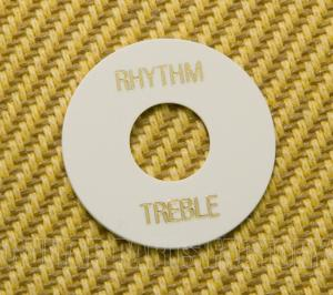 DR00WG White Rhythm/Treble Switch Ring Bold Gold Lettering