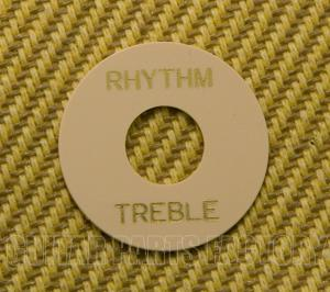 DR00CG Cream Rhythm/Treble Switch Ring Bold Gold Lettering