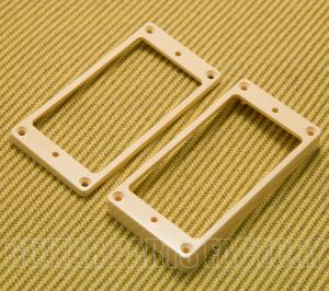 HMRVCARCHSET Plastic Vintage Cream Archtop Humbucker Pickup Ring Set