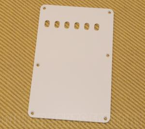 PG-0556-025 1-Ply White Vintage Style Back Plate for Fender Strat