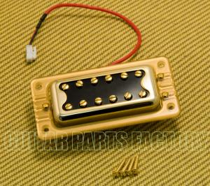 009-6640-000 Gretsch Pickup, Blacktop Filter'Tron, Neck, w/ Hardware, Gold 0096640000
