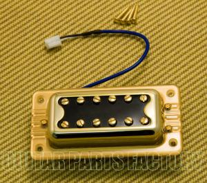 009-6643-000 Gretsch Pickup, Blacktop Filter'Tron, Bridge, w/ Hardware, Gold 0096643000