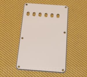 PG-0556-035 White 3-ply Back Plate/Tremolo Cover for Fender Stratocaster/Strat