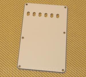 PG-0556-050 3-ply Parchment Strat Guitar Tremolo Spring Cover 6-Hole Back Plate