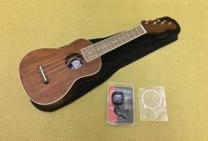 097-1610-022 Fender Seaside Soprano Ukulele Pack w/ Gig Bag & Tuner, Walnut Fingerboard, Natural