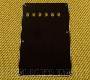 PG-0556-033 Black 3-ply Tremolo Spring Cover Back Plate For Strat Guitar