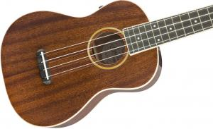 097-1630-076 Fender Grace Vanderwaal Dark Walnut Gloss Signature Ukulele With Gig Bag 0971630076