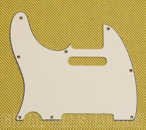 PG-0562-L50 8-hole Pickguard for Left-Handed Telecaster Parchment
