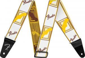 "099-0686-005 Weighless 2"" Monogrammed Guitar Strap White/Brown/Yellow 0990686005"