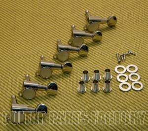 TK-0760-001 Gotoh Nickel Sealed 6 Inline Mini Tuners for Strat and Tele Guitar