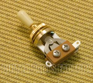 EP-0066-CT Gold Short Guitar Toggle Switch Cream Tip