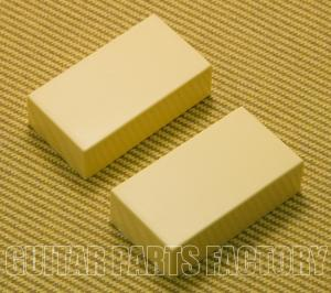 PC-0303-C (2) Cream Closed Guitar Humbucker No Holes Pickup Cover Set