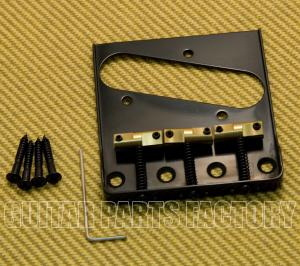 BT005-SS-B Black Wilkinson Telecaster Tray Bridge No Logo w/ Cut Out Sides