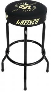 "922-7632-030 Genuine Gretsch ""Power & Fidelity"" Logo Black Barstool - 30"" 9227632030"