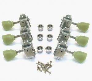 WJ-44-3C Wilkinson 3x3 Chrome Vintage Tuners for Les Paul SG Gibson Epiphone