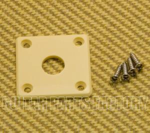 DR-002-C Vintage Cream ABS Jack Plate for Les Paul Guitar and Similar