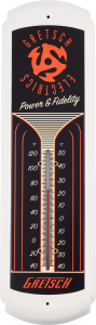 922-7377-100 Gretsch Guitar Vintage Style Power & Fidelity Tin Thermometer 9227377100