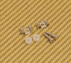 AP-0720-001 Nickel Guitar String Guides Flat Wave w/ Screws & Spacers (2-Pack)