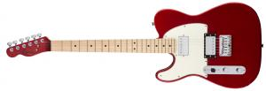 037-1229-525 Squier Left Handed Contemporary Telecaster Electric Guitar HH Dark Metallic Red Maple Neck