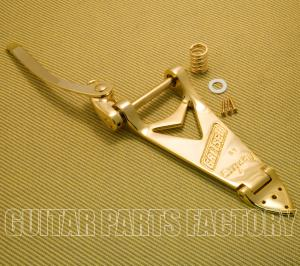 006-0144-100 Gretsch Bigsby B6GLH Gold Left-Handed Tailpiece with Handle 0060144100